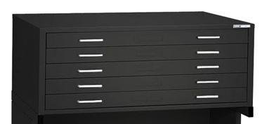 Mayline High Density Storage And Filing C-Files For 24'''' X 36'''' Sheets (Five-Drawer File) Black Paint