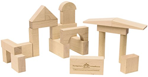 Maple Blocks Set - My First Wooden Block Set - Made in USA, 21 pieces