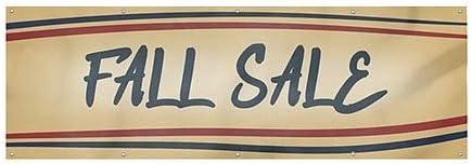 CGSignLab 12x4 Nostalgia Stripes Heavy-Duty Outdoor Vinyl Banner Fall Sale