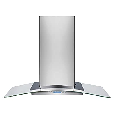 "Frigidaire RH36WC60G 36"" Glass Canopy Wall-Mount Hood with Dual-Centrifugal Fans and Washable Filters, Stainless Steel"