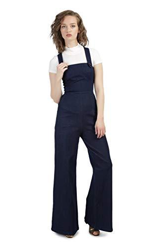 Femme Bleu Manche Sans Salopette Goddiva Y1XFRqx