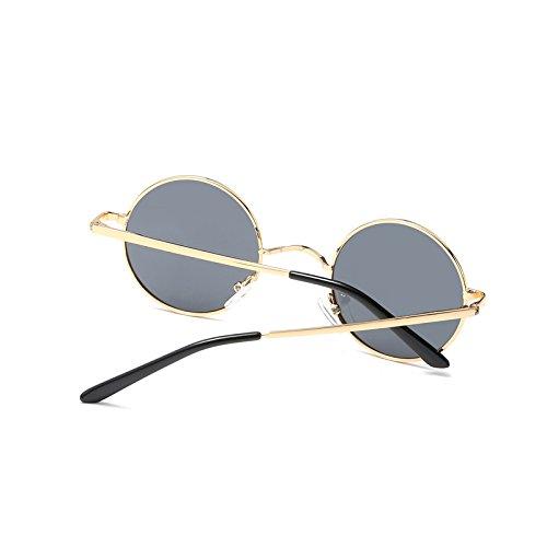 Sunglasses polarizadas Mens rotonda gafas sol de TL hombres pequeña UV400 dqgxwt5d0