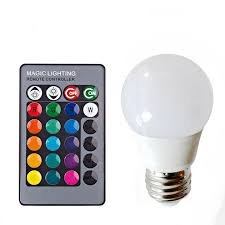 BOMBILLA LED DE COLORES CON MANDO - REMOTE CONTROL LED COLORFUL LAMP: Amazon.es: Iluminación