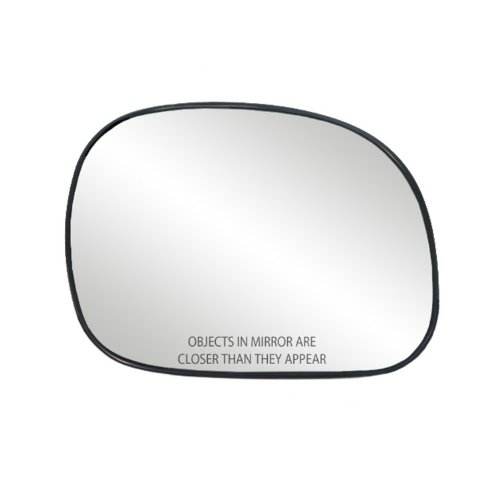 Fit System 80034 Ford Right Side Manual/Power Replacement Mirror Glass with Backing Plate ()