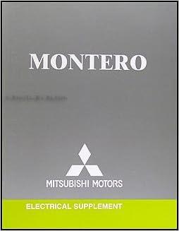 Book 2005 Mitsubishi Montero Wiring Diagram Manual Original