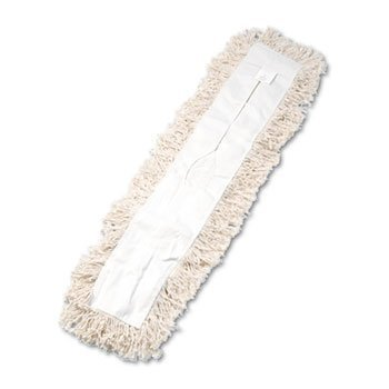 3 Pack Industrial Dust Mop Head, Hygrade Cotton, 36w x 5d, White by UNISAN (Catalog Category: Office Maintenance, Janitorial & Lunchroom / Cleaning Supplies) by Unisan