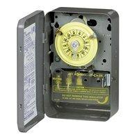 Intermatic T101B Timer Switch, 125V 24 Hr. Mechanical SPST w/NEMA 1 Separate Clock Motor & Circuit Terminal by Intermatic