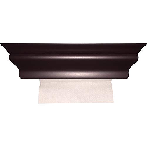 ABS Plastic Espresso Brown Wall Mount M-Fold Paper Towel Dispenser by HealthyShelf