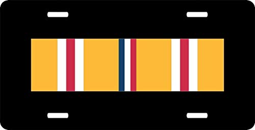 US Army Asiatic-Pacific Campaign Medal Ribbon Auto Truck Car Front Tag Aluminum Metal License Plate Frame Cover Military Vanity Gift 12 x 6 Inch