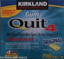 4mg Kirkland Nicotine Polacrilex GUM Original 380 Pieces 4 Mg Stop Somking Aid