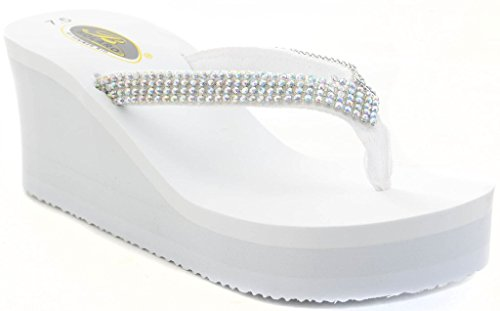 Rhinestone Diamond Bling Platform Sandals