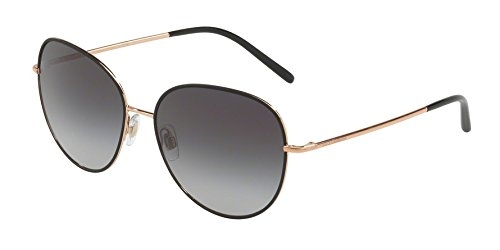 Dolce & Gabbana Women's Wire Wrapped Sunglasses, Matte Black/Grey, One Size by Dolce & Gabbana