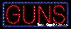 Guns LED Sign