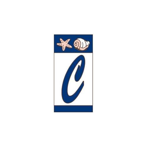 "3"" X 6"" Ceramic Tile Nautical Address House Number Display Alphabet LETTER C"