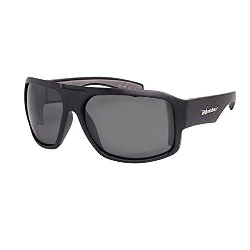Bomber Sunglasses - Mega Bomb Matte Black Frm / Smoke Pc Safety Lens / Gray - Sunglasses Bomber