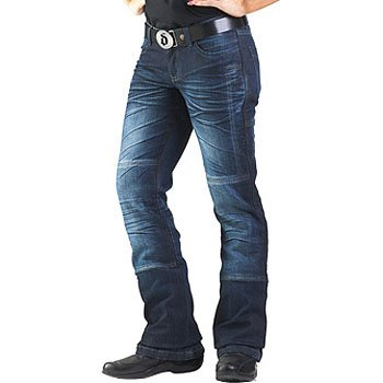 Drayko Drift Riding Jeans Women's Denim Sports Bike Motorcycle Pants - Indigo / Size 14