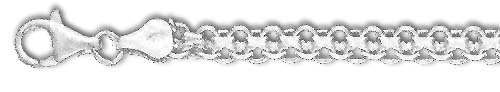 Bismarck Chain - Sterling Silver 30 Inch X 5.4 mm Bismarck Chain Necklace