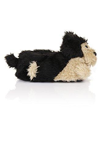 Unisex Tierhausschuhe aus Plüsch - Kinder & Erwachsene Scruffy Dog