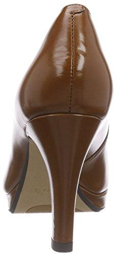 Crisp Kendra col Marrone Clarks Cognac Donna Leather Tacco Scarpe aTwn5qdg
