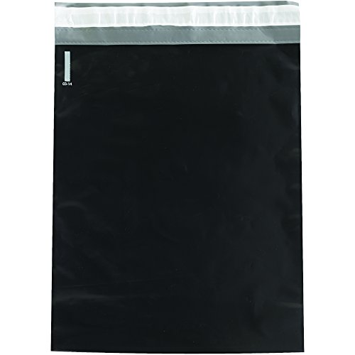 Black Poly Bags - BOX USA BCPM1215BK Poly Mailers, 12