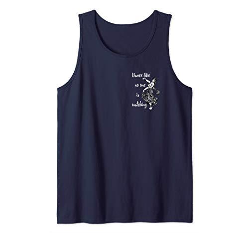 Belly Dancer Vintage Woodcut | Back of Shirt Dance Design Tank Top
