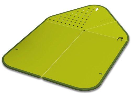 [Joseph Joseph Rinse and chop Chopping Board and Colander, Green] (Joseph Joseph Folding Colander)