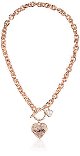 GUESS Women's Toggle Logo Charm Necklace, Rose Gold, One Size