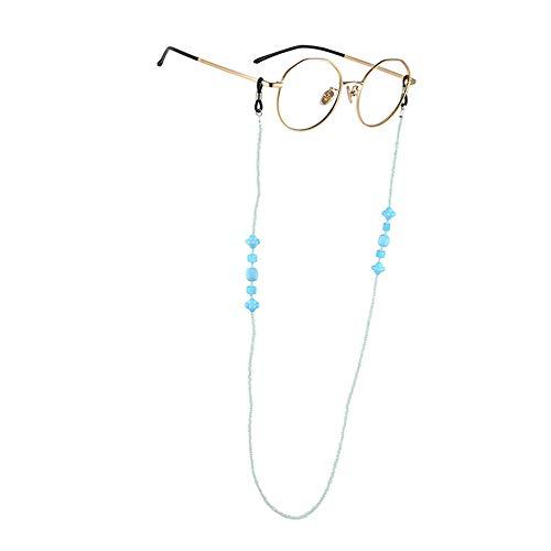 Beaded Eyeglass Chain Holder Sunglass Holder Strap Eyewear Retainer Lanyard Cord (Light Blue 1) ()