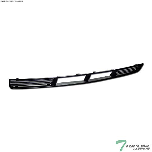 Topline Autopart Black Horizontal Front Lower Bumper Grill Grille ABS For 05-09 Ford Mustang V6 With Pony Package ()