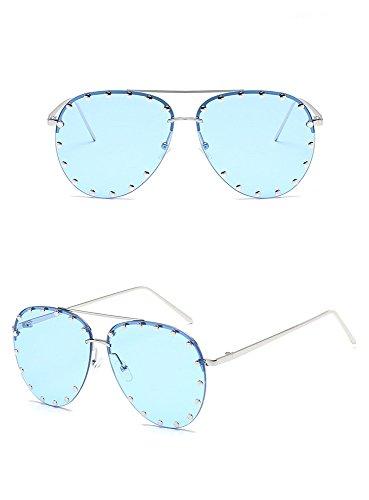 HD sol Sol Gafas Rivet de Europeo RFVBNM Hombre y Sol Gafas Metal General Shing G Lady Gafas de Americano D Fashion de Ewq0IX