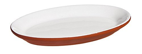 Cypress Dipped Terra Cotta Appetizer Plate, Natural White