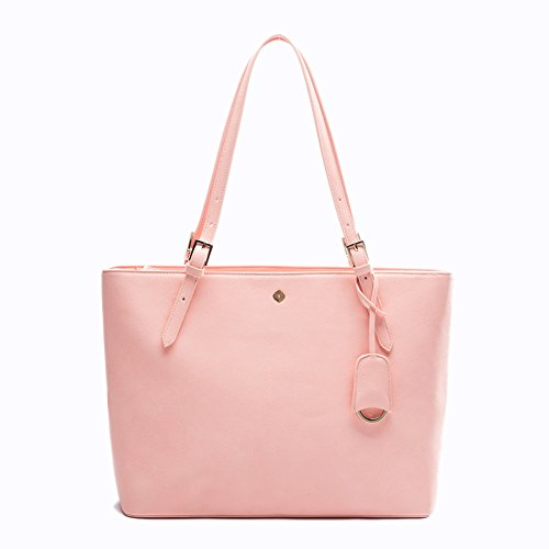 Laptop Handbags for Bag Leather Women Women by and Organiser with Handbags Fong Miss Bag RFID Black Pink Ladies In for Tote Blocking zfqrwzgP