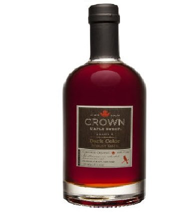 Organic Crown Maple Syrup - Dark Color and Robust Taste (750mL) (1)