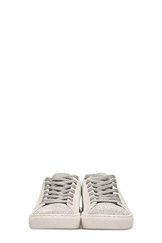 Leather White London Crime Sneakers 25204KS122 Women's Silver ZqTXn16w