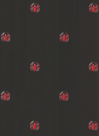 Marvel Comics Spiderman Logo Black Accent Wallpaper