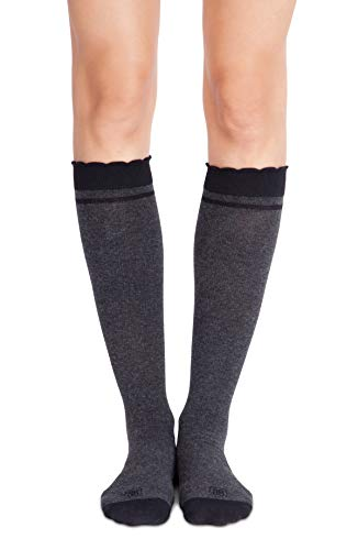Belly Bandit - Compression Socks During & After Pregnancy - Size 1, Charcoal (Swelling After C Section Feet And Legs)