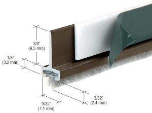 CRL Black Bronze Anodized Pile Weatherstrip for Door Rails - Stock Length