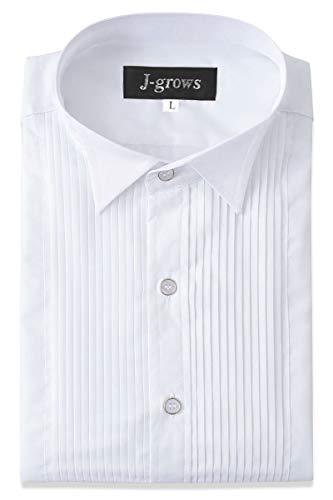 Wing Collar Tuxedo Shirt Pleated Shirt Convertible Cuffs - Tuxedo Mens Collar Wing