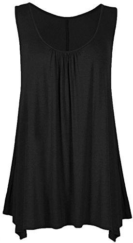 femme ample Runway unie taille grande Splash longue et pour Robe Noir wq70rf7UxX