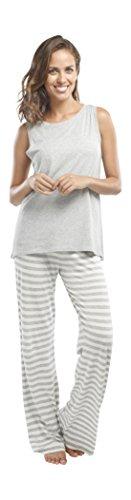 jijamas Incredibly Soft Pima Cotton Women's Pajama Set ''The Hoodie Set'' In Heather Grey by jijamas (Image #3)
