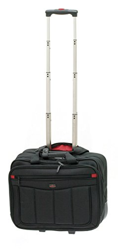 Davidts Pilotenkoffer Aktentrolley Business Trolley tasche Laptoptasche Schwarz 261 344 Bowatex