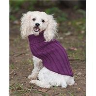 Fashion Pet Classic Turtleneck Sweater Plum Xsm