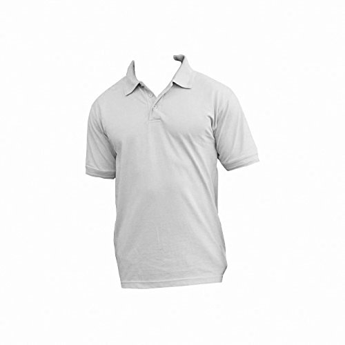 Ultimate Pique Shirt - Ultimate Clothing Collection UCC 50/50 Mens Heavweight Plain Pique Short Sleeve Polo Shirt (5XL) (Heather Grey)