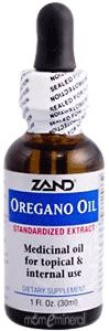 Oregano Oil Standardized Zand 1 oz Oil
