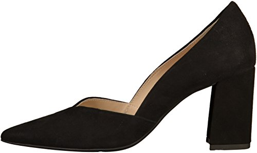 0100 Black Women's HÖGL Toe Black Metropolitan Heels Closed x06q0Z7g