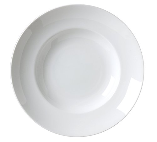 Vertex China AL-23 Alpine Pasta Bowl Deep with Rim, 12'', 21 oz., Bright White (Pack of 12) by Vertex China