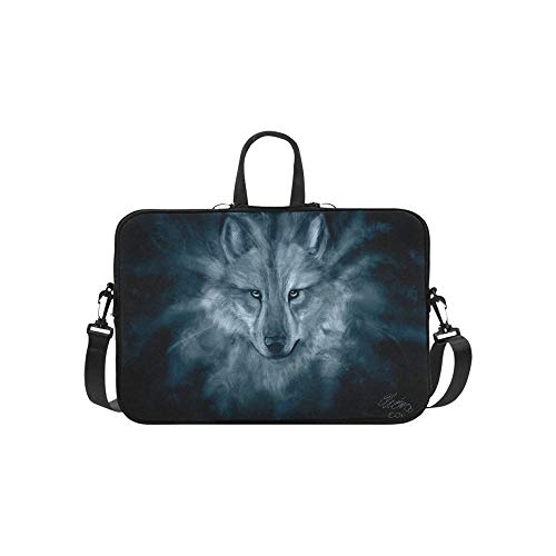 Download Wolf Spirit Hd Wallpaper by Wolfhowl Pattern Briefcase Laptop Bag Messenger Shoulder Work Bag Crossbody Handbag for Business Travelling