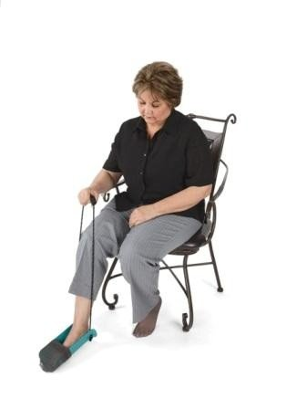 Norco Molded Sock Aid with Cord Handle