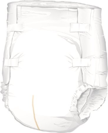 MCK72773100 - Mckesson Brand Adult Incontinent Brief McKesson Lite Tab Closure Large Disposable Light Absorbency