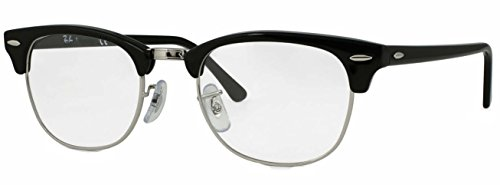 Price comparison product image Ray-Ban RX5154 Clubmaster Eyeglasses 100% Authentic (51 mm,  Shiny Black Frame)
